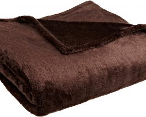 Northpoint Cashmere Plush Velvet Throw, Chocolate only $4.54