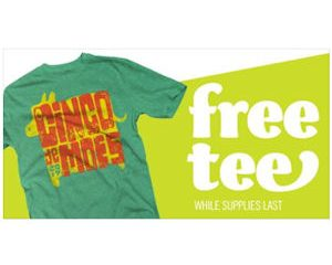 Friday Freebies-Free tshirt today from Moe's!