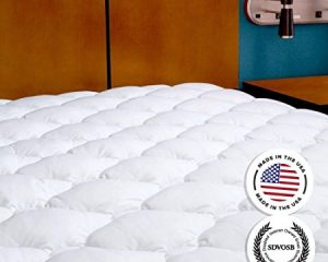 Mattress Pad with Fitted Skirt – Extra Plush Mattress Topper Only $54.99 – $72.99!
