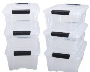 IRIS 12 Quart Stack & Pull Box, 6 Pack $15.28