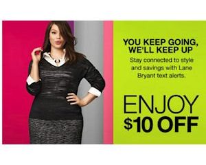 Wednesday Freebies-Free $10 Store Credit at Lane Bryant via Text