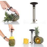 Silver Stainless Steel Pineapple De-Corer Peeler Stem Remover $6.99