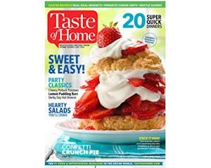 Tuesday Freebies-Free Subscription to Taste of Home Magazine