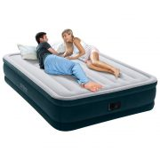 Intex Queen Dura-Beam Airbed with Built-In Electric Pump $34.99