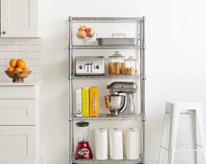 AmazonBasics 5-Shelf Shelving Unit on Wheels Only $38.76!