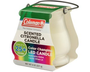 Coleman Color Changing LED Citronella Outdoor Scented Candle $3.88