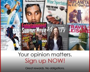 Monday Freebies- Free Magazine Subscriptions from RewardSurvey!