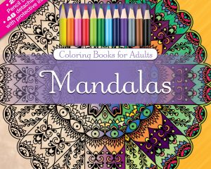 Mandalas Adult Coloring Book Set With 24 Colored Pencils And Pencil Sharpener Only $6.04!