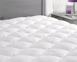 Rayon From Bamboo Mattress Pad with Fitted Skirt – Extra Plush Queen Size $85.99