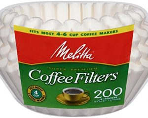 Melitta Basket Coffee Filters, Jr. White, 200 count $1.19