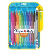 Paper Mate InkJoy Retractable Ballpoint Pens Assorted 20 pack $7.82