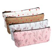Cute canvas pencil bags/pouches (set of 4) only $7.59