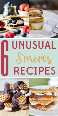 Summer is s'mores season so eat them while you can! Go traditional or mix it up with these 6 unusual s'mores recipes!