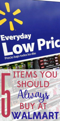 Love it or hate it, you know Walmart delivers when it comes to deals! Here are the 5 things you should always buy at Walmart.