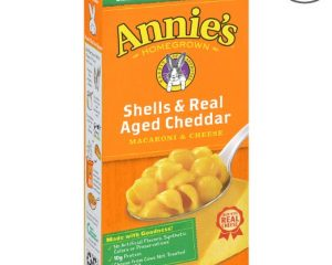 ANNIE'S SHELLS & AGED CHEDDAR MAC AND CHEESE, 6 OZ BOX (PACK OF 12) $6.88