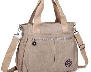 ZYSUN Womens Nylon Designer Tote Crossbody Handbag $9.99