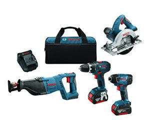 Bosch 2-Tool Combo Kit (Drill/Driver & Impact Driver) with Batteries $129