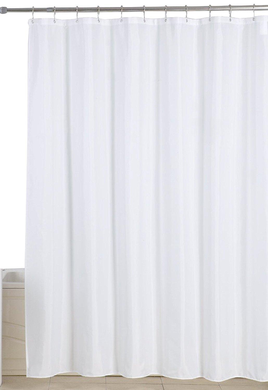 Utopia Home Antibacterial Mildew Resistant Fabric Shower Curtain 699