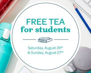 Saturday Freebies – Free Tea for Students at DAVIDsTEA!