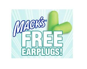 Tuesday Freebies-Free Earplugs from Mack's!