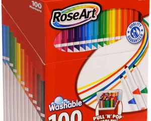 RoseArt SuperTip Assorted Color Washable Markers 100-Pack $10.80