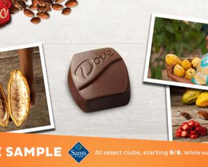 Saturday Freebies – Free Dove Chocolate Sample at Sam's Club!