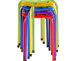 Norwood Commercial Furniture Plastic Stack Stools Assorted (Pack of 5) $40.78
