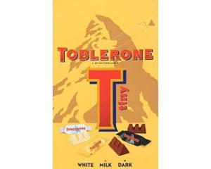 Toblerone Tiny Variety Gift Box, White, Milk and Dark Chocolate Only $5.32!