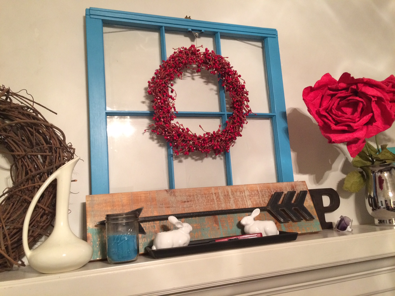 Frugal Decorating: Seasonal Mantel Update With Thrifted Finds