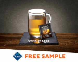 Saturday Freebies – FREE steep by Bigelow Organic Lemon Ginger Herbal Tea Sample at Sam's Club!