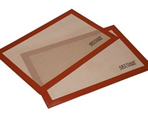 Artisan Silicone Baking Mat for Half-Size Cookie Sheet, 2-Pack Only $9.62!