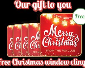 Thursday Freebies-Free Christmas Window Clings