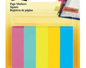 Post-it Page Markers, 1/2 in x 1 3/4 in, Assorted Fluorescent Colors, 250 Sheets Only $1.67!