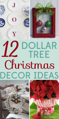 bring in the holiday spirit with these cheap and easy dollar tree christmas decor ideas