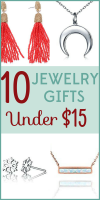 Jewelry is sure to please and it doesn't have to be expensive! We've got 10 gorgeous jewelry gifts that cost $15 or less!