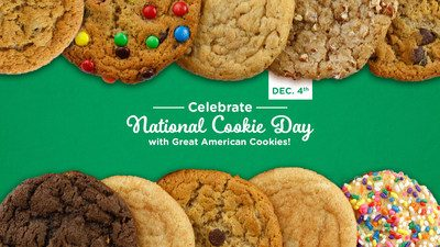 Free Cookie at Great American Cookies on Dec. 4. (PRNewsfoto/Great American Cookies)