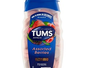 TUMS ULTRA STRENGTH 1000 ANTACID, ASSORTED BERRIES, 72 TABLETS $3.97