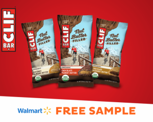 Saturday Freebies – Free CLIF Nut Butter Filled Energy Bar at Walmart!