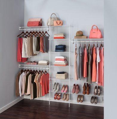 Closetmaid 5037 5ft to 8ft fixed mount closet organizer for Walk in wardrobe kits