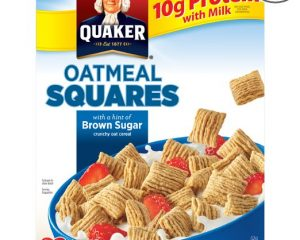 Quaker Oatmeal Squares Brown Sugar 14.5-Ounce Box (Pack of 4 Boxes) $10