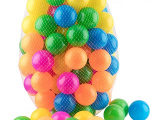 Ball Pit 100 Pack – Ball Pit Balls Crush Proof BPA Free – 6 Colors – Fun Ball Pit For Kids and Baby $13.99