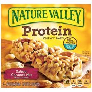 Nature Valley Chewy Granola Bar, Protein, Gluten Free, Salted Caramel Nut, 5 Bars, 1.42 oz $2.39