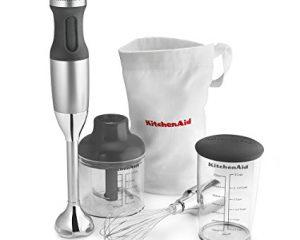 KitchenAid KHB2351CU 3-Speed Hand Blender – Contour Silver $44
