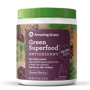 Amazing Grass Green Superfood Antioxidant Organic Powder with Wheat Grass and Greens, Flavor: Sweet Berry, 30 Servings $14.12