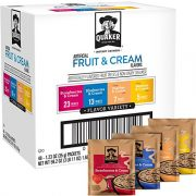 Quaker Instant Oatmeal Fruit and Cream 48 pack $9.47