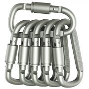 Outmate Aluminum D-ring Locking Carabiners (6) Only $7.49!