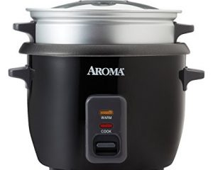 Aroma 3 Cups Uncooked/6 Cups Cooked Rice Cooker, Steamer, Silver (ARC-363-1NGB) $15.64