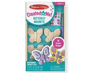 Melissa & Doug Decorate-Your-Own Wooden Butterfly Magnets Craft Kit $4.99