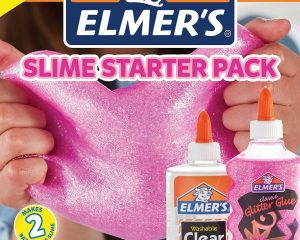 Elmer's Slime Starter Kit, Clear School Glue and Pink Glitter Glue $4.27