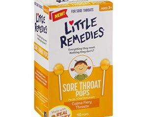 Little Remedies Sore Throat Pops, 10 Count, Calms Fiery Throats, Ages 3+ $3.79